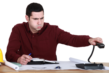 Self assessment tax return causes man to show signs of stress.
